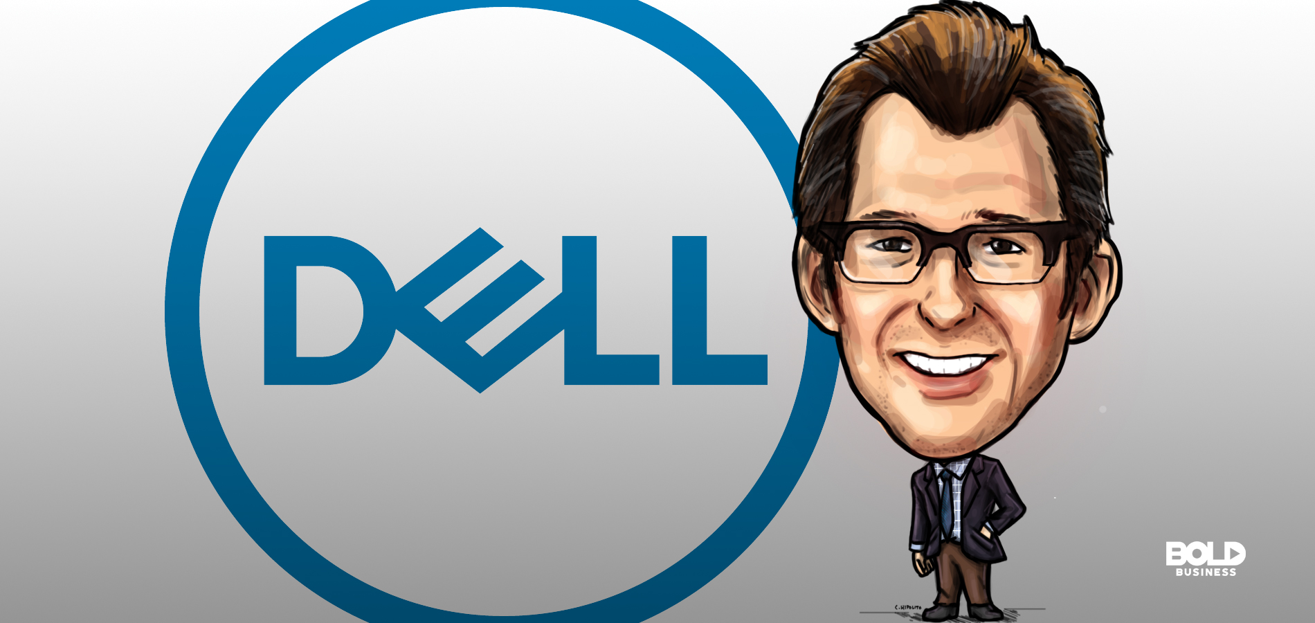 a cartoon of Richard Rothberg, Dell general counsel, has helped guide the company through bold leadership.