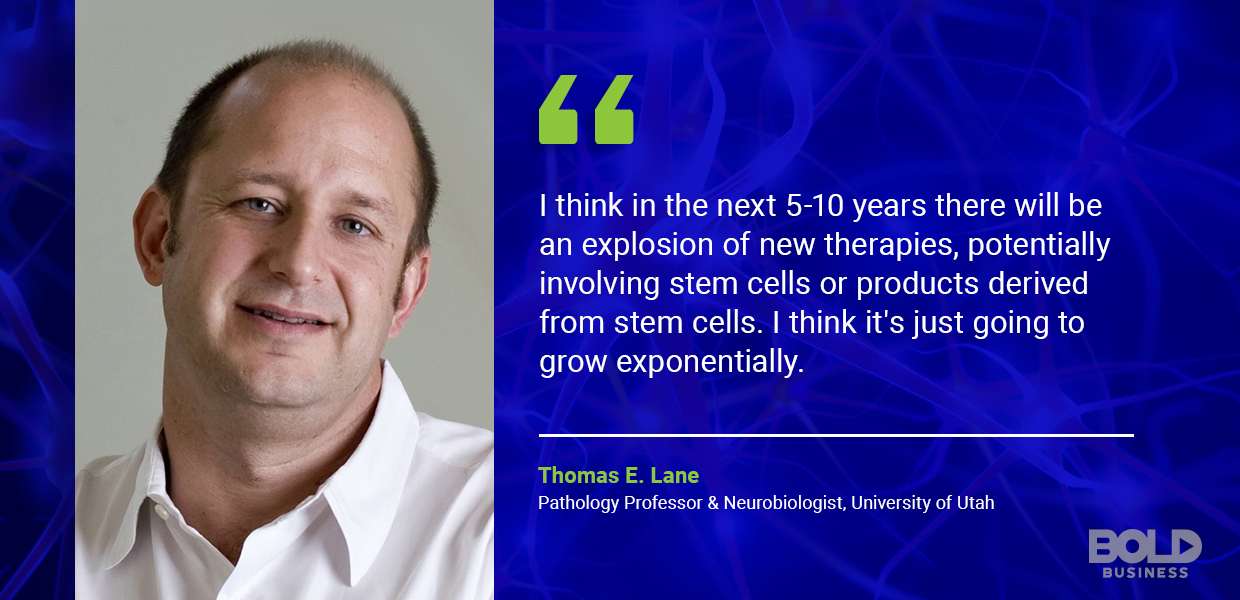 stem cell treatment, thomas lane quoted