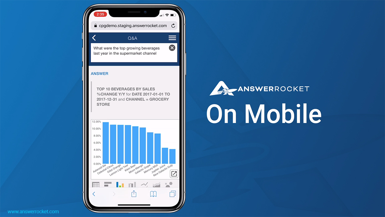 future of analytics, answerrocket on mobile