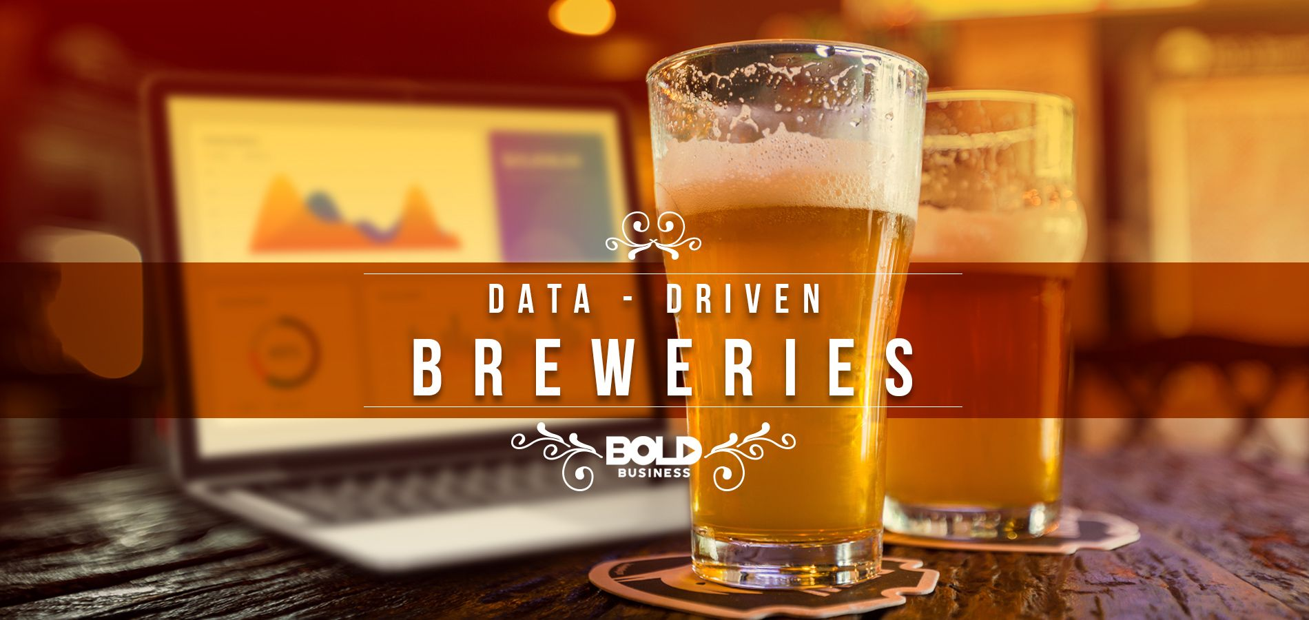 a photo of a beer with a laptop behind it in the thick of the rise of brewery analytics