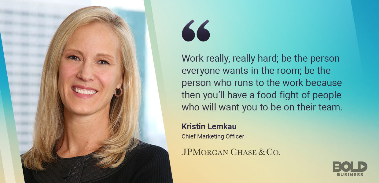 As a bold leader, Kristin Lemkau has worked to help JPMorgan Chase make the world a better place.