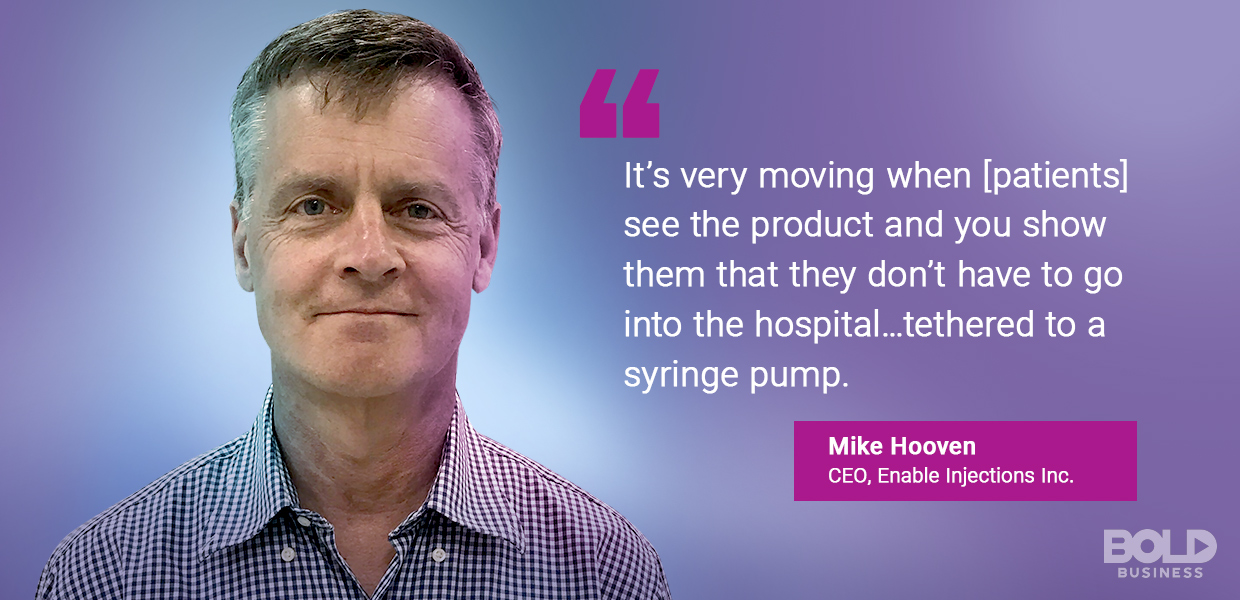 mike hooven, enable injections inc ceo quoted about injection theraphy.