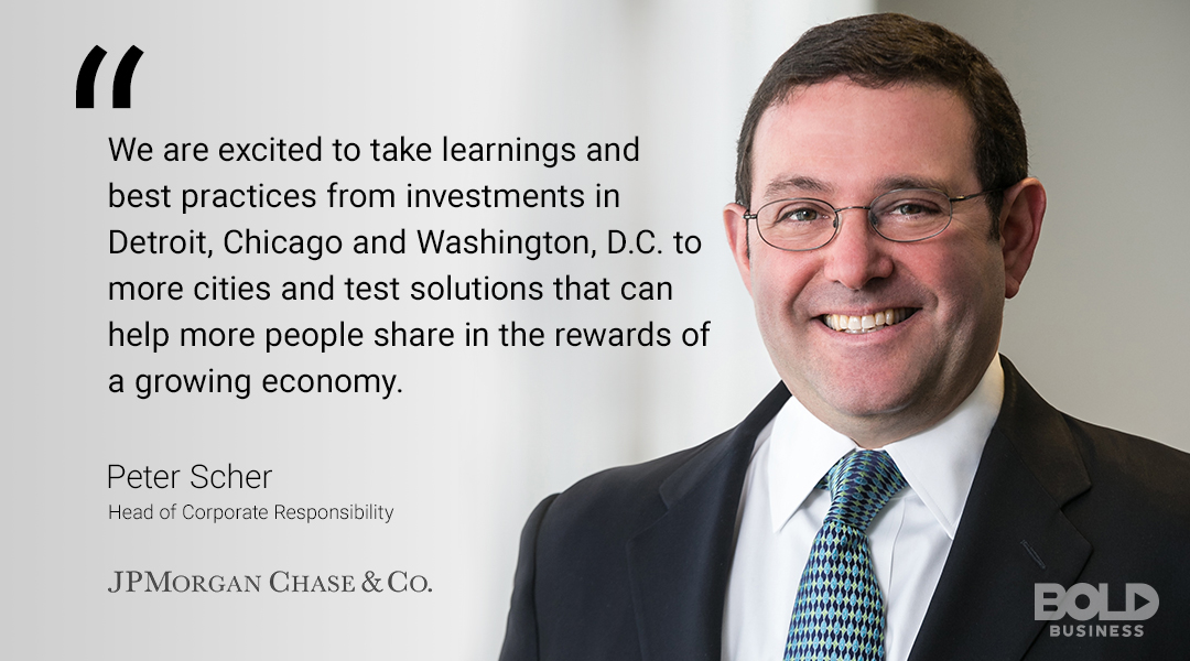 JPMorgan Chase wants to help communities, and the AdvancingCities Challenge is their mechanism.
