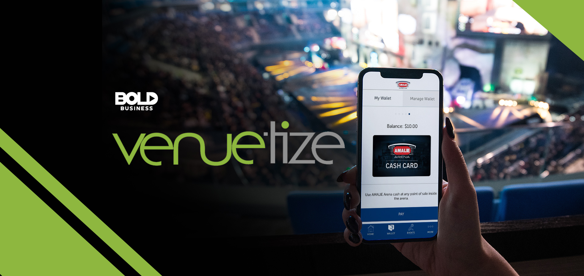 smart space solutions, venuetize logo smart phone on the right