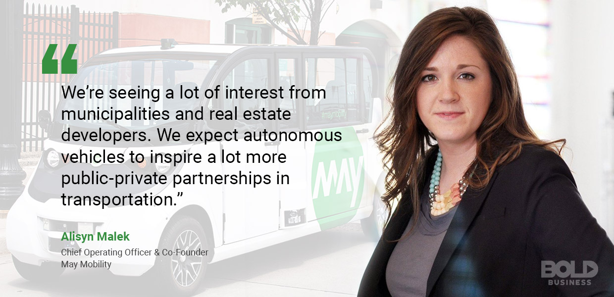 self-driving vehicles, alisyn malek quoted