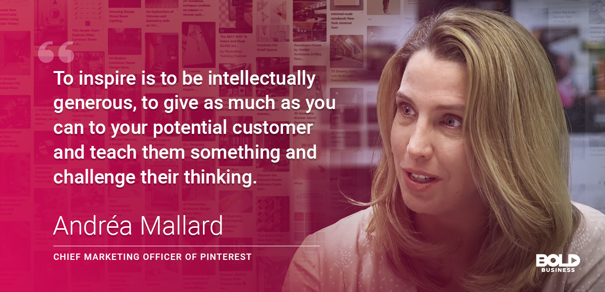 Andrea Mallad of Pinterest is a bold leader