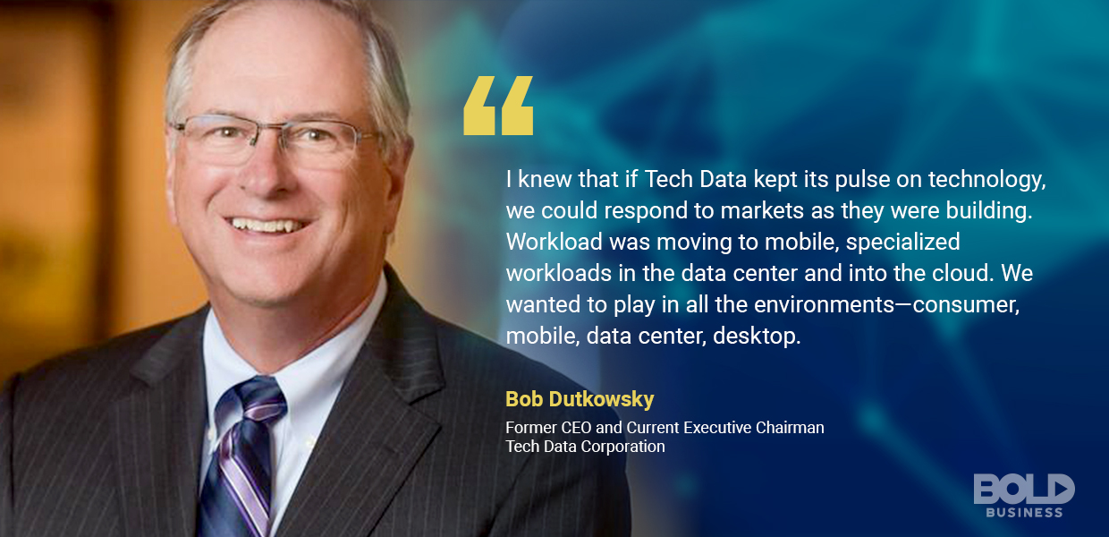 Bob Dutkowsky quote about Tech Data Corporation and its data management technology