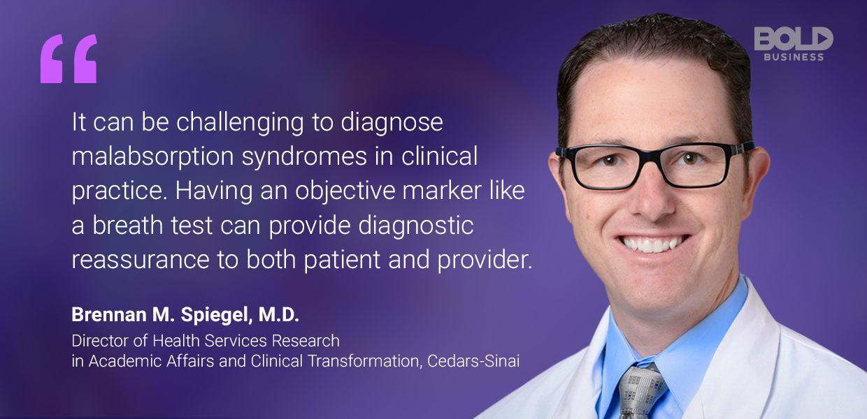 a photo quote of Brennan M. Spiegel amid the discussions on functional dyspepsia treatment