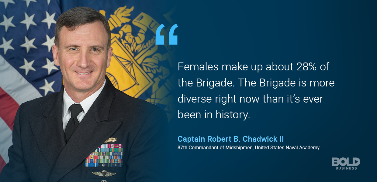 Capt Robb Chadwick speaks on USNA diversity