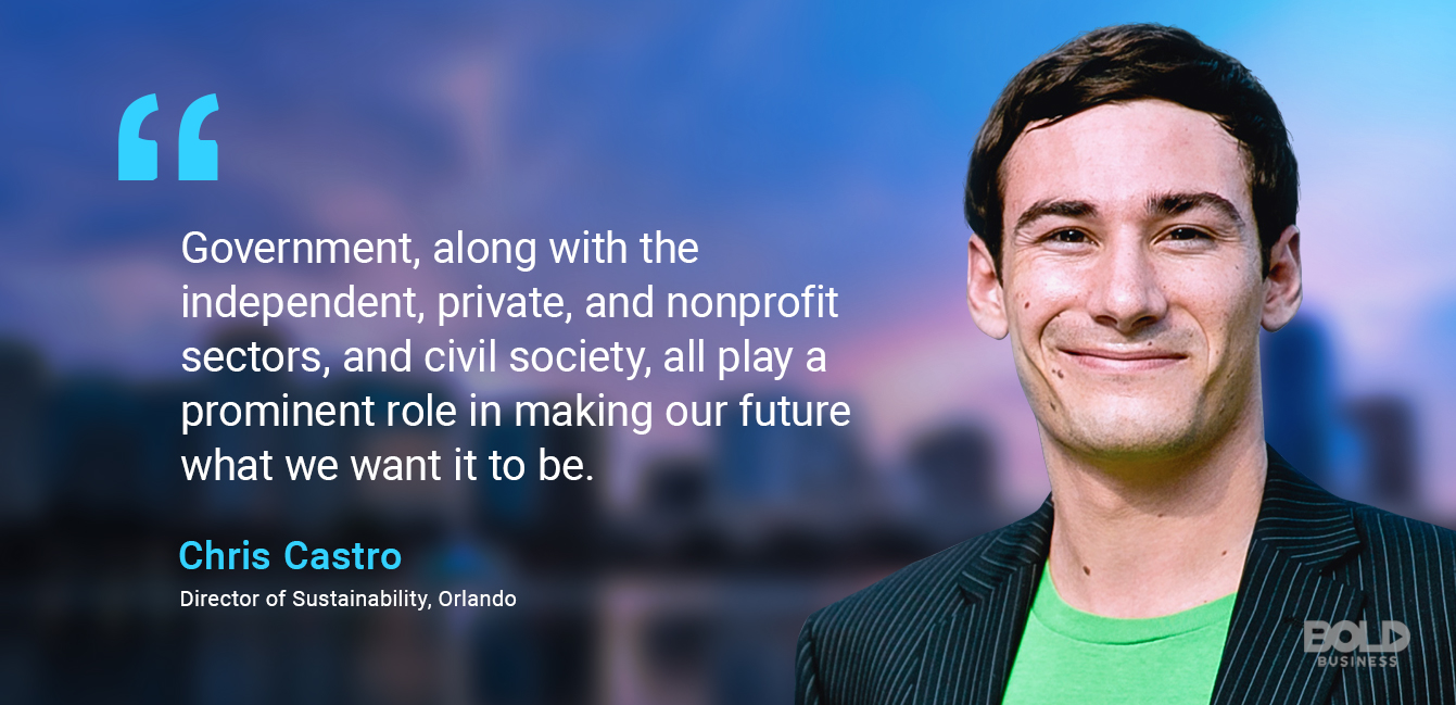 photo quote of Chris Castro from Director of Sustainability, Orlando