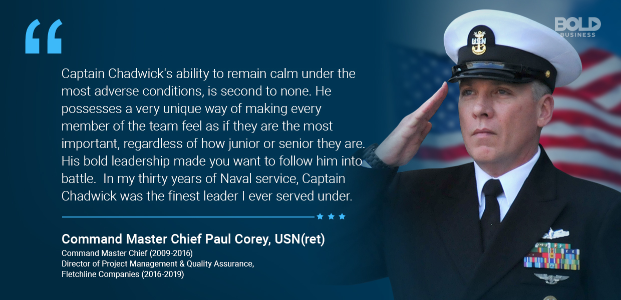 The Naval Academy Commandant is a bold leader