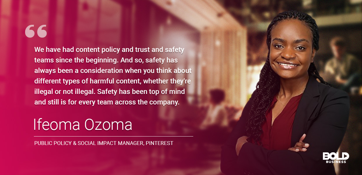 Ifeoma Ozoma - Public Policy & Social Impact Manager of PInterest