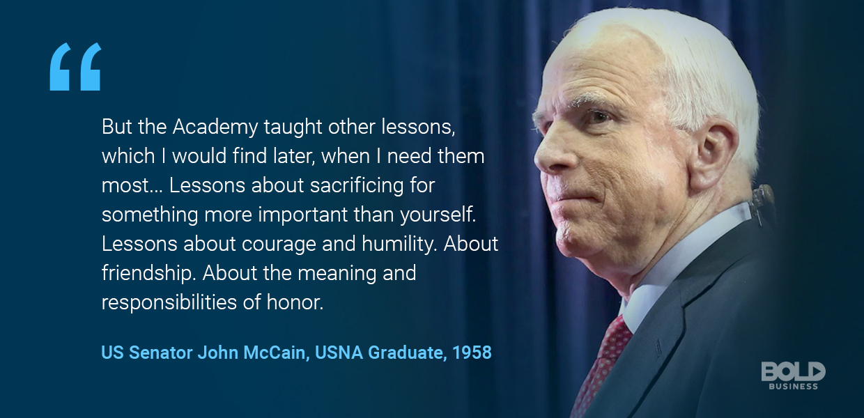 John McCain talks USNA