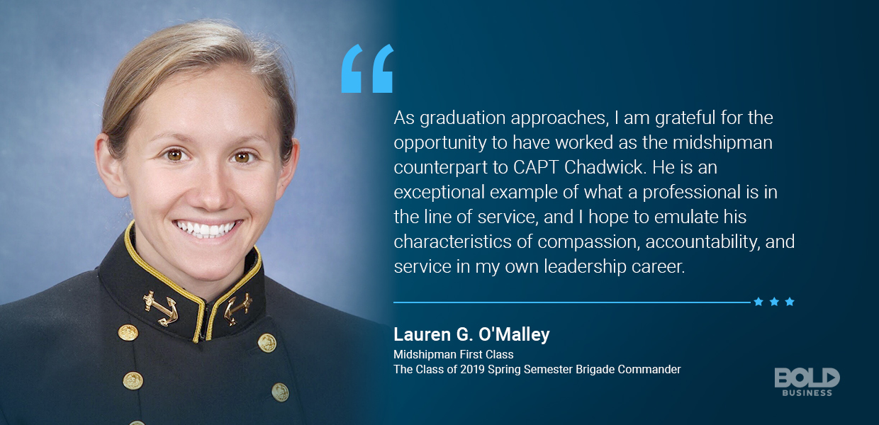 Quote from Lauren G. O'Malley - Midshipman First Class