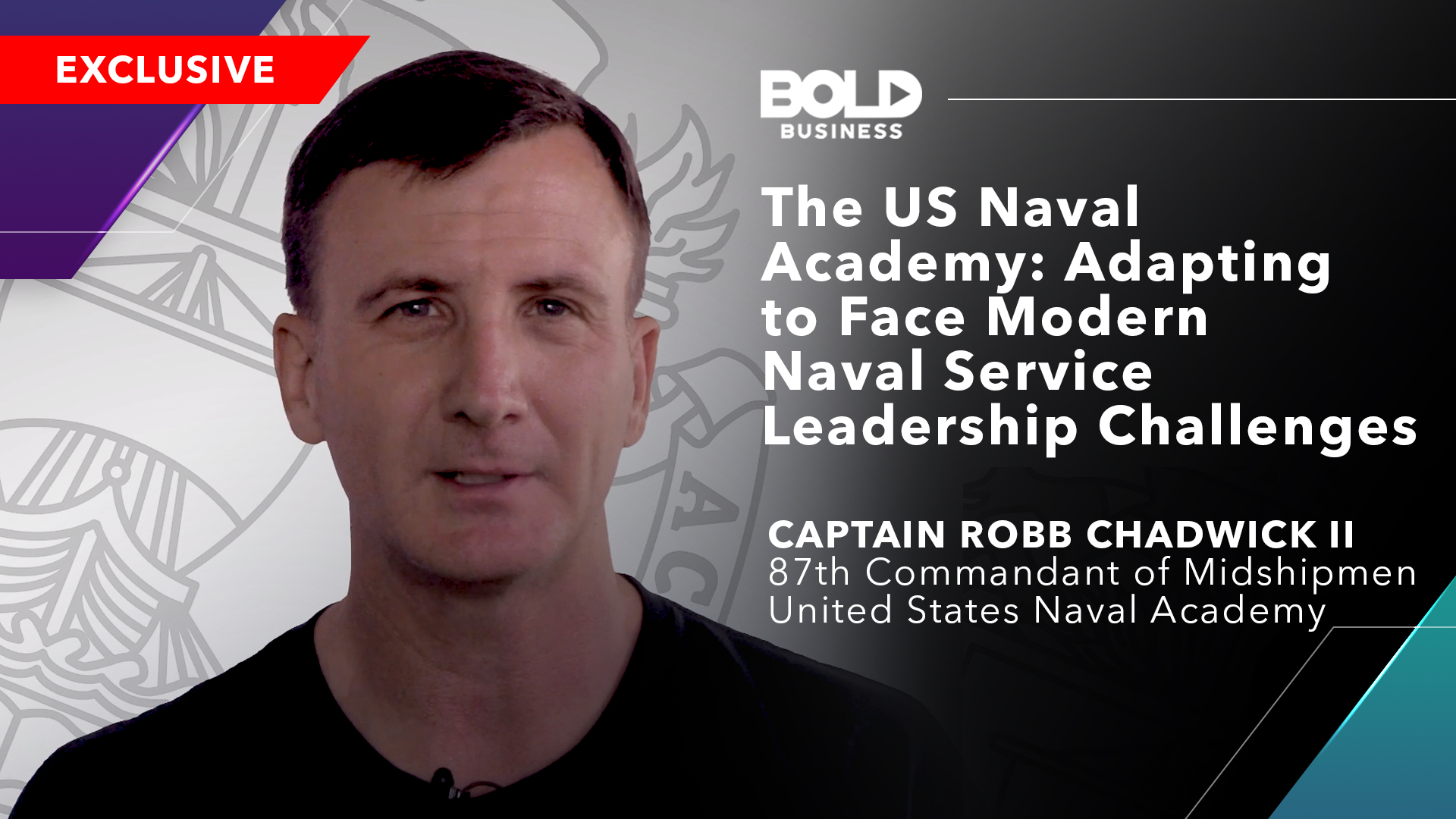 photo of Robb Chadwick in relation to how the US Naval Academy is adapting the modern navy leadership challenges