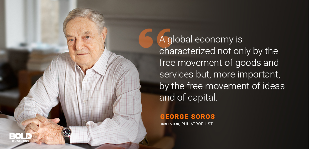 importance of transportation in economic development, george soros quoted