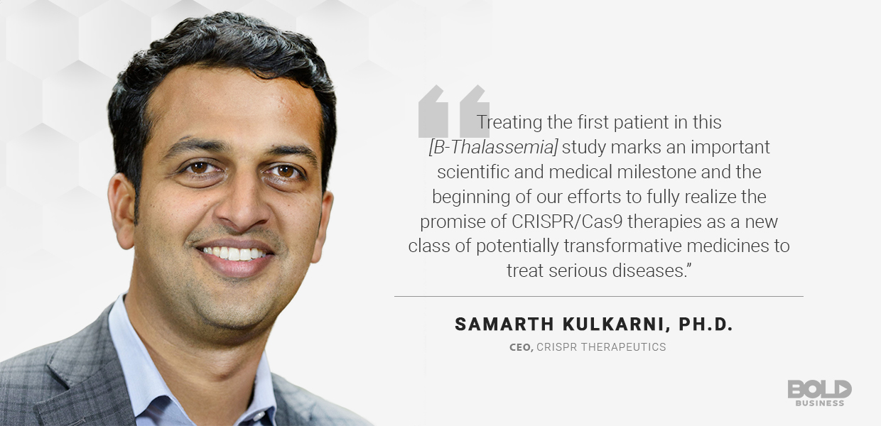 CRISPR Therapeutics has developed transformative medicines to treat diseases, according to CEO Samarth Kulkarni.