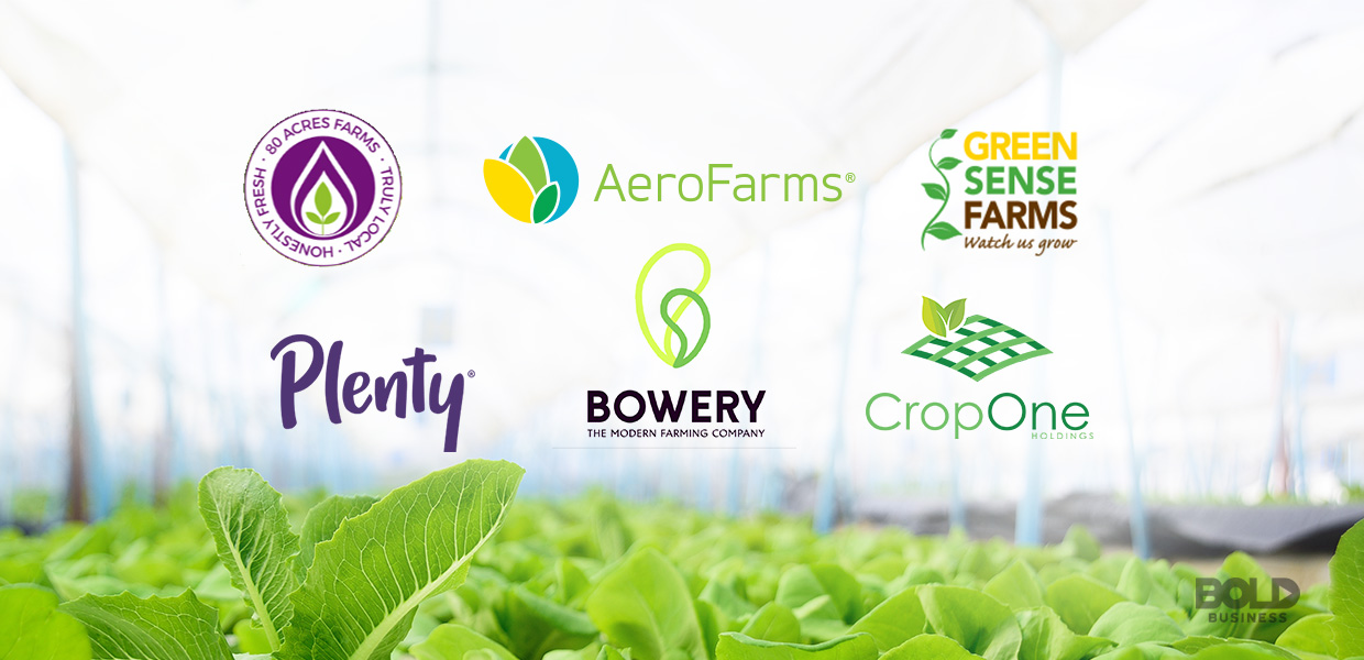 indoor agriculture, logos of vertical farming companies