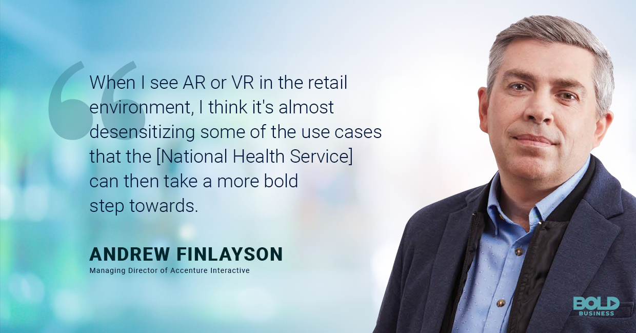 a photo quote of Andrew Finlayson in relation to the rise of virtual and augmented reality technologies