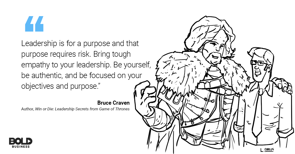 cartoon of Bruce Craven and Game of Thrones leadership style