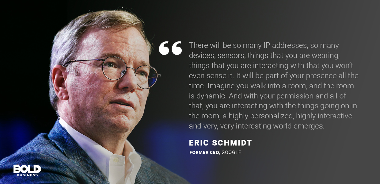 industrial revolution 4.0, eric schmidt quoted