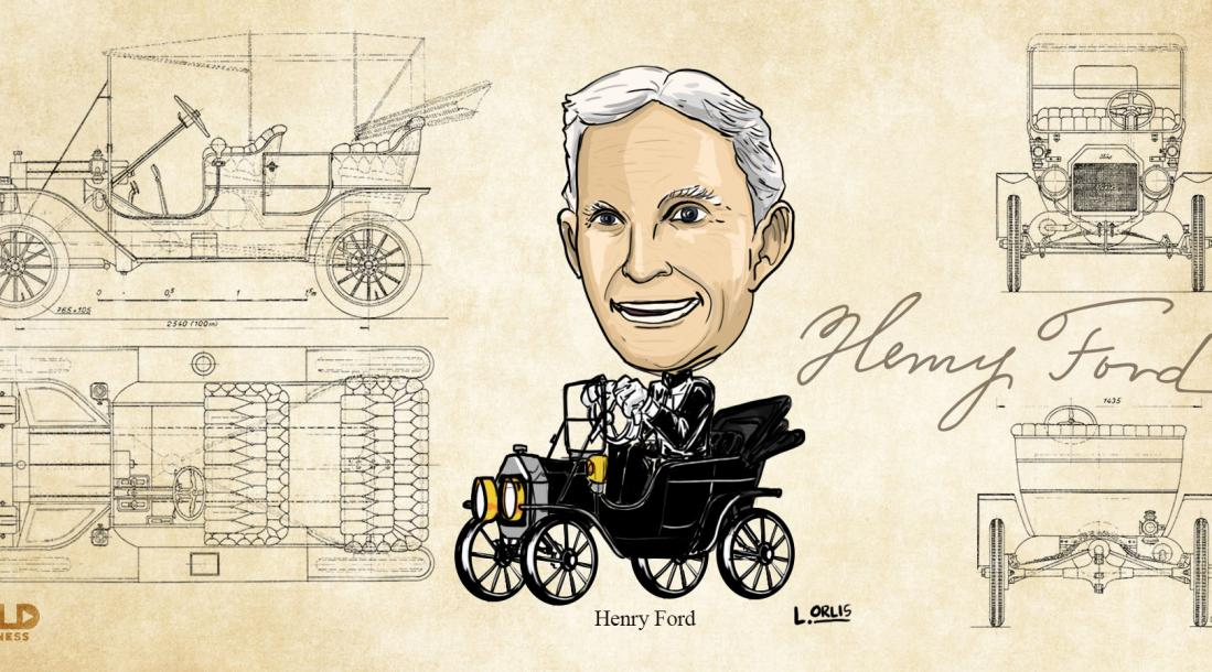 Henry Ford caricature
