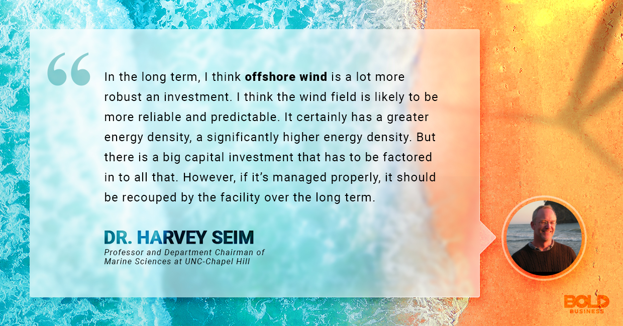 advantages of wind power, harvey seim quoted