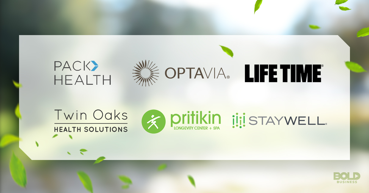 a photo of the company logos of the bold businesses offering services or solutions for living a healthy lifestyle