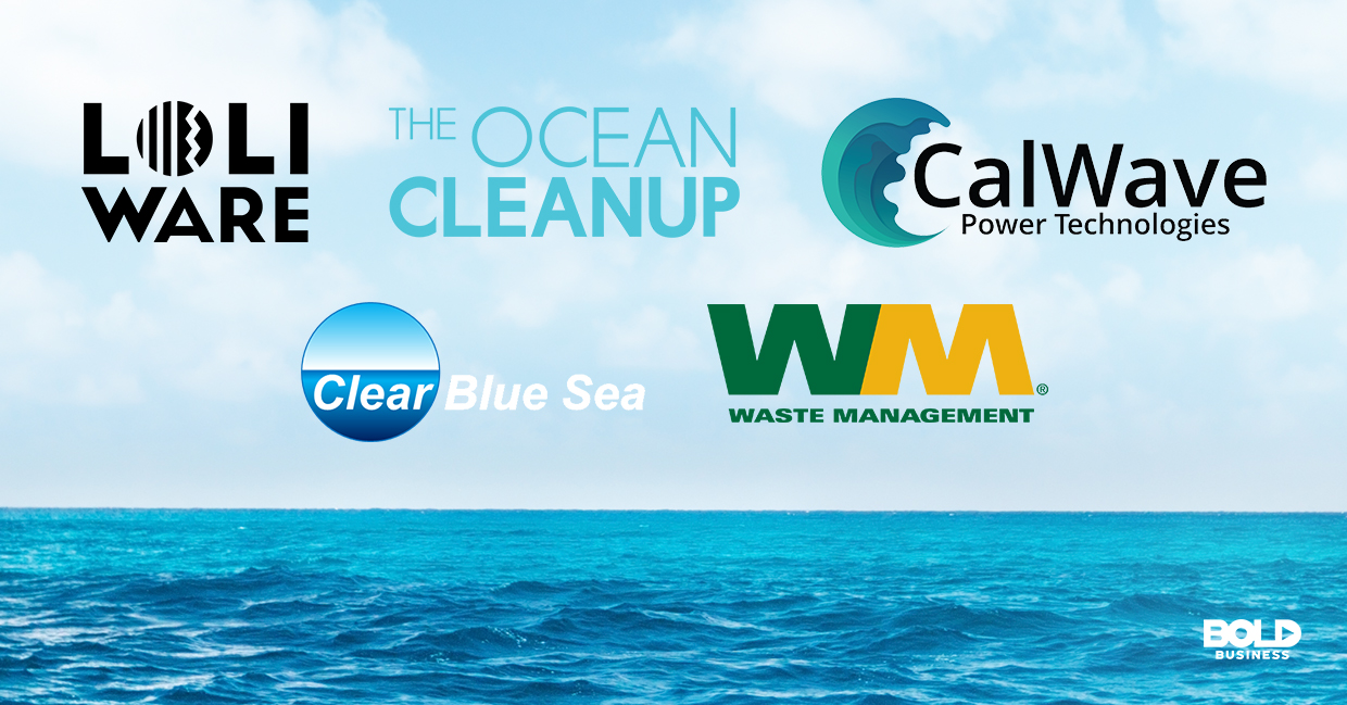 a photo of the different company logos of the bold companies that are making bold moves in addressing the pollution in oceans and seas