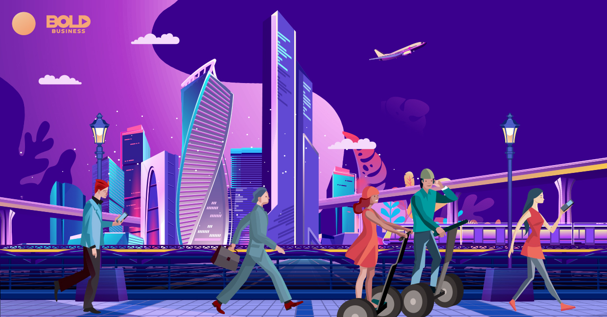 a colorful illustration or depiction of a smart city helped created by Sidewalk Labs Toronto