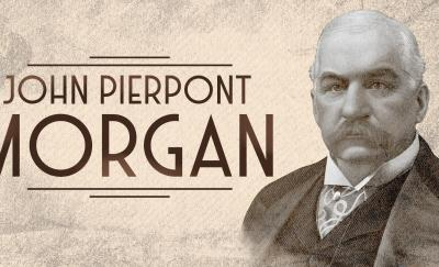John Pierpont Morgan, portrait in sepia