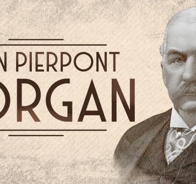 John Pierpont Morgan, portrait in sepia