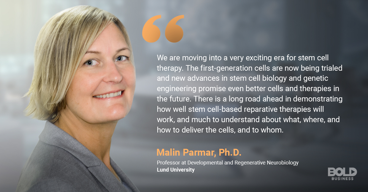 a photo quote of Malin Parmar in relation to human cell regeneration
