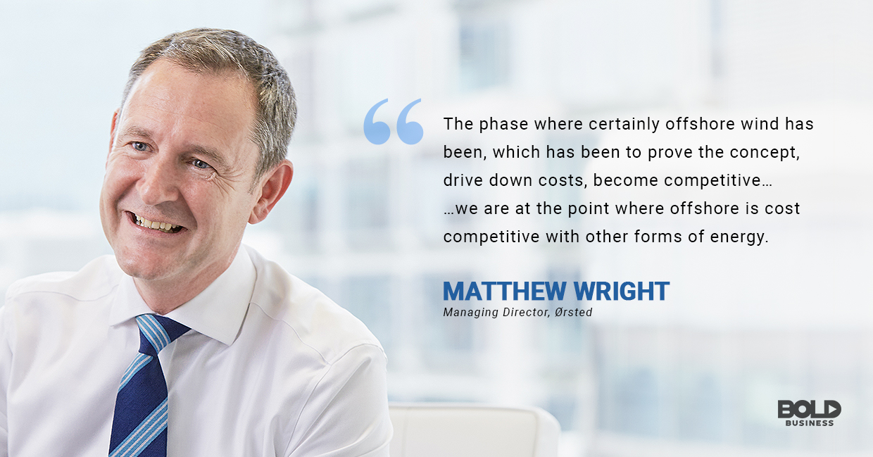 advantages of wind power, matthew wright quoted