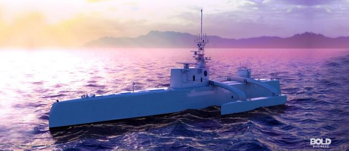 a photo of one of the autonomous ships envisioned to exist in today's world