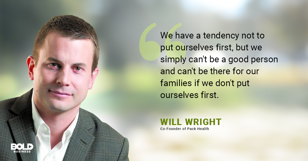 a photo quote of Will Wright on the importance of living a healthy lifestyle