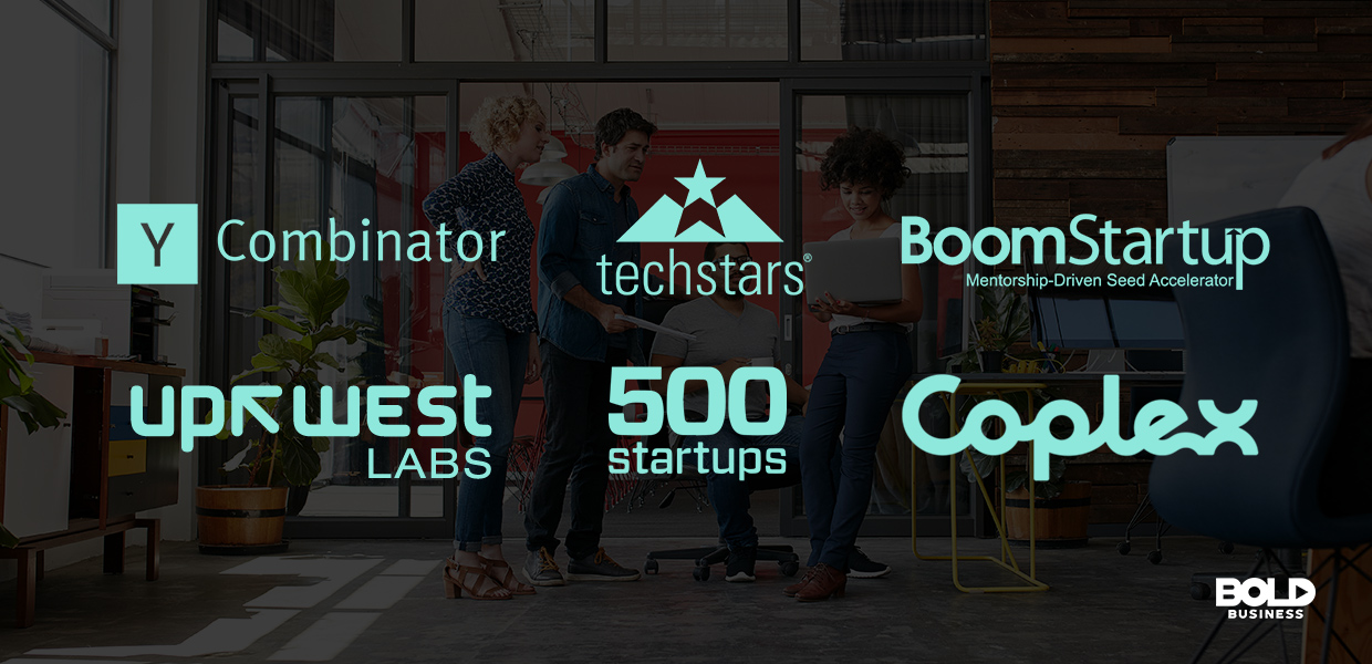 a photo of the company logos of startup incubators and startup accelerators in relation to Embarc Collective