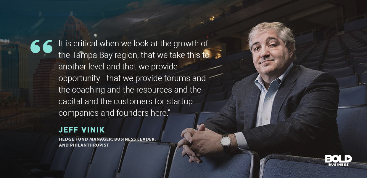 a photo quote of Jeff Vinik in relation to Embarc Collective
