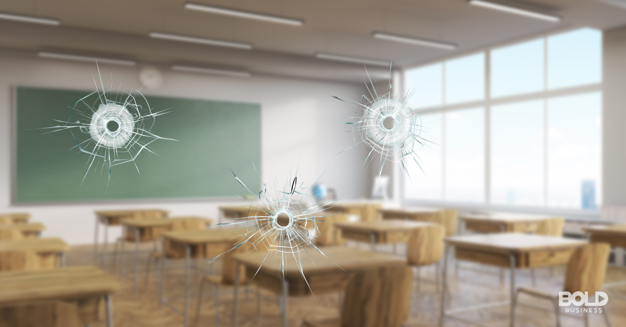 Preventing school shootings with bullet-resistant glazing