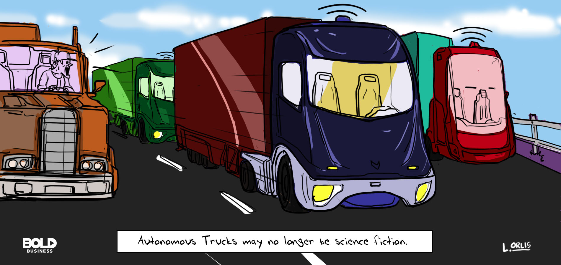a truck driver shocked to find autonomous trucks on the road