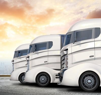 A fleet of autonomous trucks