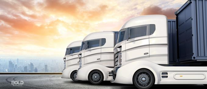 A fleet of autonomous trucks