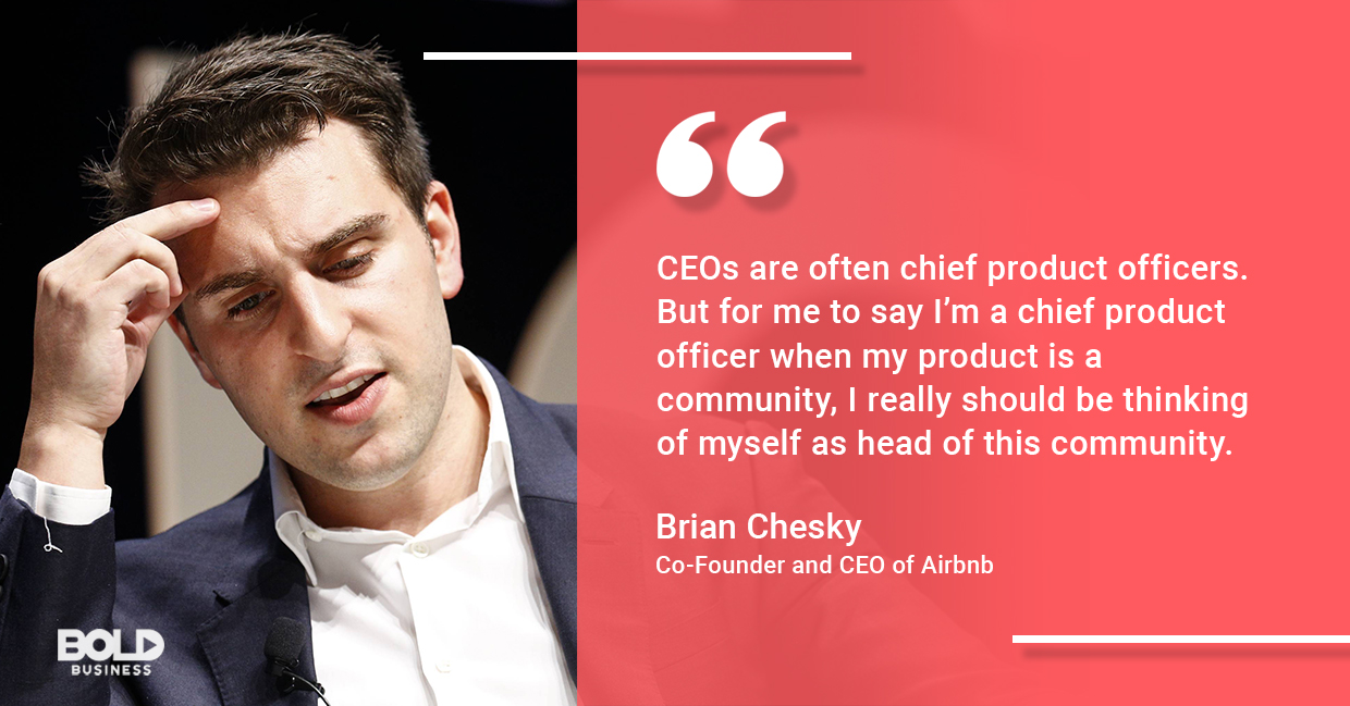 brian chesky on being a community leader