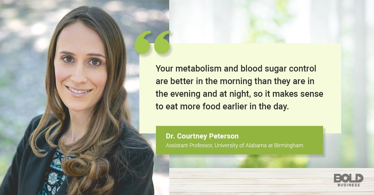 Courtney Peterson talking why breakfast isn't the most important meal of the day.