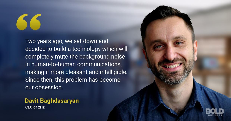 2Hz founder talking sound