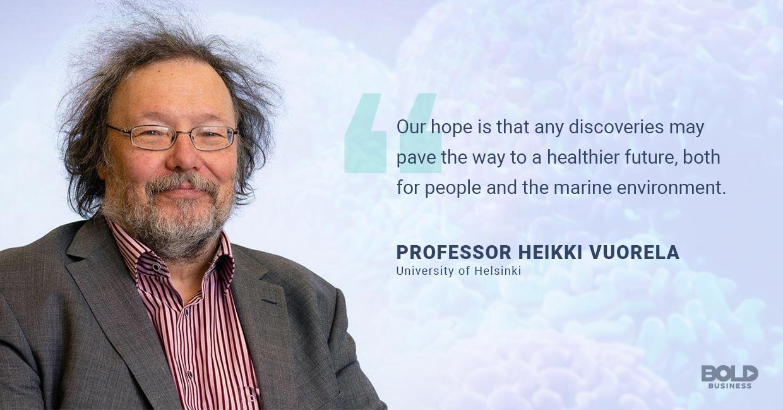 marine resources, heikki vuorela quoted