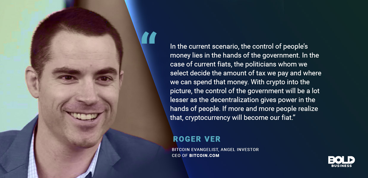Fintech startups are the future, says roger ver, ceo of bitcoin