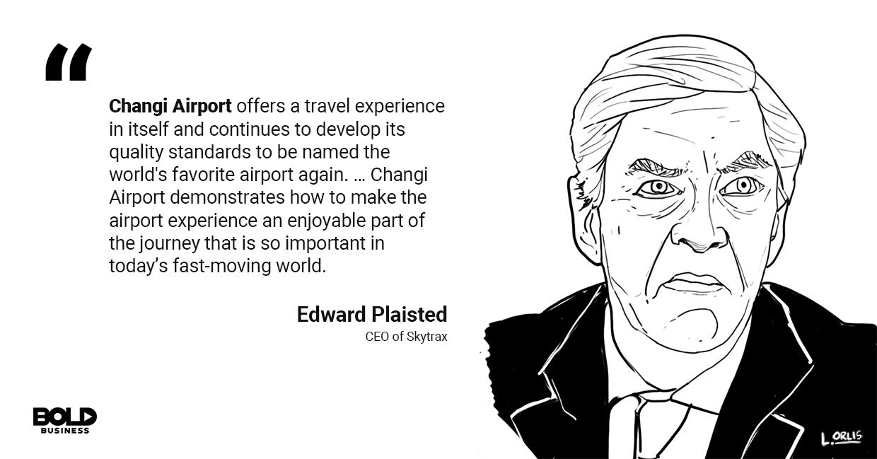 a photo quote of Edward Plaisted in relation to the future of airline industry and aviation industry growth
