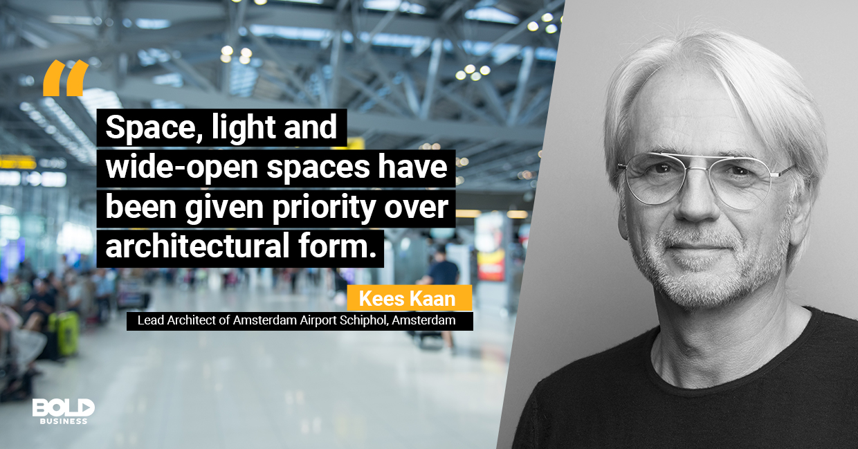 a photo quote of Kees Kaan in relation to the future of airline industry and aviation industry growth