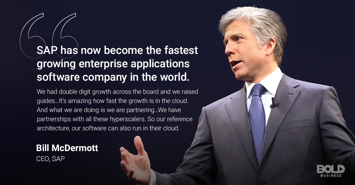 sap technology, bill mcdermott quoted